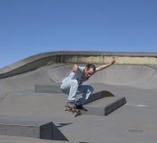 Δράση Skateboarder στον αέρα Στοκ Εικόνες