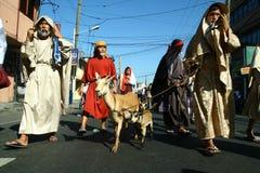 Δράστες και χαρακτήρες στη αναπαράσταση του πάθους Χριστού Στοκ φωτογραφία με δικαίωμα ελεύθερης χρήσης