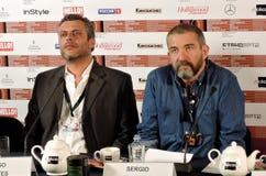 Δράστης Hugo Bentes και σκηνοθέτης Sergio Trefaut Στοκ φωτογραφία με δικαίωμα ελεύθερης χρήσης
