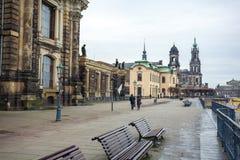 22 01 2018 Δρέσδη  Γερμανία - αρχιτεκτονική και τοπίο Dres Στοκ εικόνες με δικαίωμα ελεύθερης χρήσης