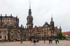 Δρέσδη Γερμανία Είδη της πόλης κέντρο ιστορικό στοκ φωτογραφίες με δικαίωμα ελεύθερης χρήσης