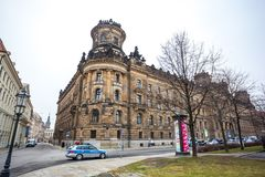 22 01 2018 Δρέσδη, Γερμανία - ιστορική παλαιά οικοδόμηση της αστυνομίας de Στοκ Φωτογραφίες