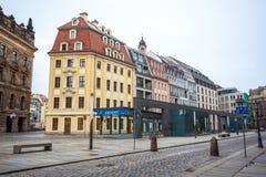 22 01 2018 Δρέσδη, Γερμανία - παλαιά όμορφα σπίτια στη Δρέσδη, S Στοκ Εικόνες