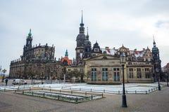 22 01 2018 Δρέσδη  Καθεδρικός ναός της Γερμανίας - της Δρέσδης του ιερού Trin Στοκ Φωτογραφίες