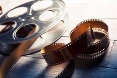 Δραματική αναμμένη εικόνα ενός εξελίκτρου κινηματογράφων Στοκ Εικόνες