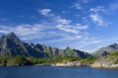 δραματική θέα βουνού στοκ φωτογραφία