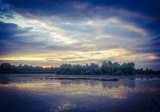 Δραματική καλλιτεχνική σκηνή ιστορίας φαντασίας Overfiltered στο δέλτα Δούναβη από τη Ρουμανία Στοκ φωτογραφίες με δικαίωμα ελεύθερης χρήσης