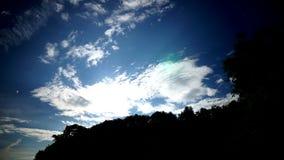 Δραματική νύχτα σύννεφων timelapse φιλμ μικρού μήκους