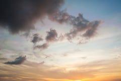 Δραματικός ουρανός με τη θύελλα σύννεφων Στοκ Φωτογραφία