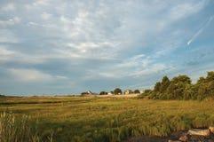 Δραματικός ουρανός στο πρωί λιμνών Allens στοκ εικόνα