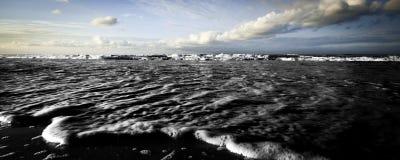 δραματικός χειμώνας θάλα&sig Στοκ Εικόνες