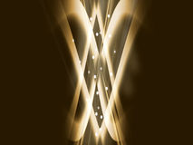 δραματικός χρυσός φυσήμα&ta Στοκ εικόνα με δικαίωμα ελεύθερης χρήσης