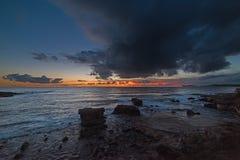 Δραματικό ηλιοβασίλεμα πέρα από Alghero Στοκ εικόνα με δικαίωμα ελεύθερης χρήσης