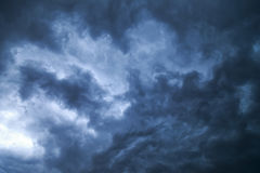 Δραματικό σχέδιο σύννεφων θύελλας Στοκ εικόνα με δικαίωμα ελεύθερης χρήσης