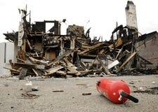 δραματικό τοπίο πυρκαγιά&sigm Στοκ εικόνα με δικαίωμα ελεύθερης χρήσης