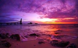 Δραματικό φυσικό ηλιοβασίλεμα στοκ εικόνες