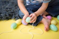 Δραστηριότητα και τέχνες Πάσχας παιδιών Στοκ Εικόνα