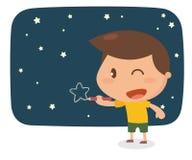 Δραστηριότητα κατσικιών Αστέρι σχεδίων Στοκ εικόνες με δικαίωμα ελεύθερης χρήσης