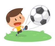 Δραστηριότητα κατσικιών παίζοντας ποδόσφαιρο Στοκ Φωτογραφία