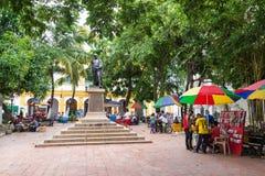 Δραστηριότητα στο Plaza σε Mompox, Κολομβία Στοκ Φωτογραφίες