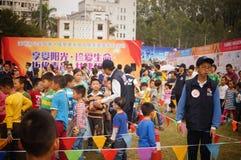 Δραστηριότητες ανοικτής ημέρας αστυνομίας Shenzhen του τοπίου Στοκ φωτογραφία με δικαίωμα ελεύθερης χρήσης