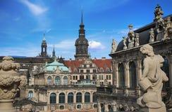 ΔΡΕΣΔΗ, ΓΕΡΜΑΝΙΑ †«στις 13 Αυγούστου 2016: Dresdner Zwinger, που επανοικοδομείται Στοκ εικόνα με δικαίωμα ελεύθερης χρήσης