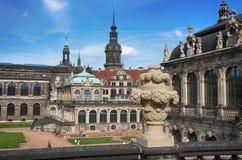 ΔΡΕΣΔΗ, ΓΕΡΜΑΝΙΑ †«στις 13 Αυγούστου 2016: Dresdner Zwinger, που επανοικοδομείται Στοκ φωτογραφίες με δικαίωμα ελεύθερης χρήσης