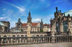 ΔΡΕΣΔΗ, ΓΕΡΜΑΝΙΑ †«στις 13 Αυγούστου 2016: Dresdner Zwinger, που επανοικοδομείται Στοκ φωτογραφία με δικαίωμα ελεύθερης χρήσης