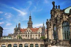 ΔΡΕΣΔΗ, ΓΕΡΜΑΝΙΑ †«στις 13 Αυγούστου 2016: Dresdner Zwinger, που επανοικοδομείται Στοκ Φωτογραφίες