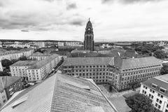 ΔΡΕΣΔΗ, ΓΕΡΜΑΝΙΑ - 15 ΙΟΥΛΊΟΥ 2016: Εναέρια άποψη ορόσημων της Δρέσδης Στοκ εικόνες με δικαίωμα ελεύθερης χρήσης