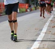 Δρομέας αθλητών κατά τη διάρκεια του αγώνα Στοκ Εικόνα