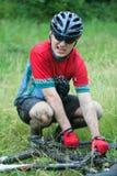δρομέας βουνών ποδηλάτων Στοκ φωτογραφία με δικαίωμα ελεύθερης χρήσης