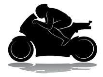 Δρομέας μοτοσικλετών, διανυσματική απεικόνιση Στοκ Εικόνα