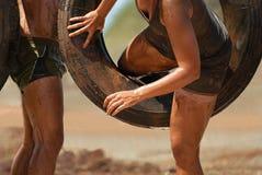 Δρομείς φυλών λάσπης στοκ εικόνες
