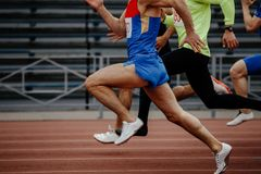 Δρομείς sprinters ατόμων φυλών Στοκ Φωτογραφίες