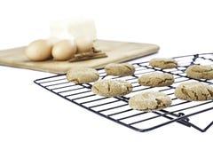 Δροσίζοντας μπισκότα με τα συστατικά στοκ φωτογραφία με δικαίωμα ελεύθερης χρήσης