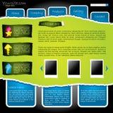 Δροσίστε το σχισμένο ιστοχώρο με τις ετικέτες Στοκ εικόνα με δικαίωμα ελεύθερης χρήσης