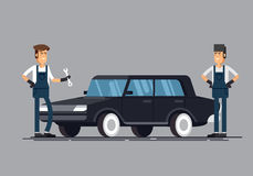 Δροσίστε το σύνολο καταστήματος επισκευής αυτοκινήτων και αυτόματων διανυσματικών απεικονίσεων υπηρεσιών διανυσματική απεικόνιση