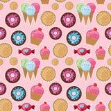 Δροσερά άνευ ραφής γλυκά σχεδίων Στοκ εικόνες με δικαίωμα ελεύθερης χρήσης