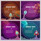 Δροσερά διαστημικά εμβλήματα καθορισμένα Στοκ Εικόνες