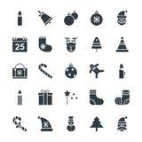 Δροσερά διανυσματικά εικονίδια 1 Χριστουγέννων Στοκ φωτογραφίες με δικαίωμα ελεύθερης χρήσης