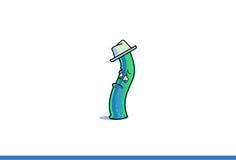Δροσερά κινούμενα σχέδια με το καπέλο λυπημένο Στοκ φωτογραφίες με δικαίωμα ελεύθερης χρήσης