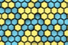 Δροσερά hexagons για τη σύγχρονη ζωή Στοκ φωτογραφία με δικαίωμα ελεύθερης χρήσης