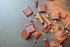Δροσερές εγκαταστάσεις σοκολάτας Στοκ Φωτογραφίες