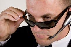 δροσερές σκιές επιχειρηματιών πρακτόρων Στοκ εικόνες με δικαίωμα ελεύθερης χρήσης