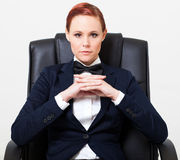 Δροσερή γυναίκα μόδας Στοκ φωτογραφία με δικαίωμα ελεύθερης χρήσης