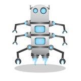 Δροσερή και χαριτωμένη τρισδιάστατη απεικόνιση ρομπότ Στοκ Εικόνα