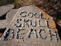 Δροσερή παραλία κρανίων Στοκ εικόνες με δικαίωμα ελεύθερης χρήσης