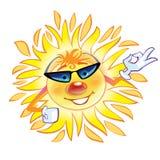δροσερός ήλιος χαρακτήρ&al Στοκ φωτογραφία με δικαίωμα ελεύθερης χρήσης