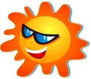 δροσερός ήλιος ελεύθερη απεικόνιση δικαιώματος